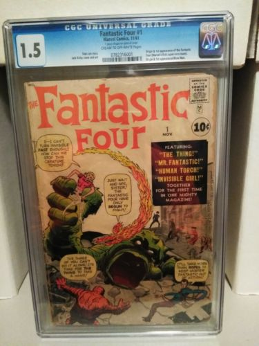 fantastic four #1 CGC 1.5 from 11/61 1st app of the fantastic four, key issue