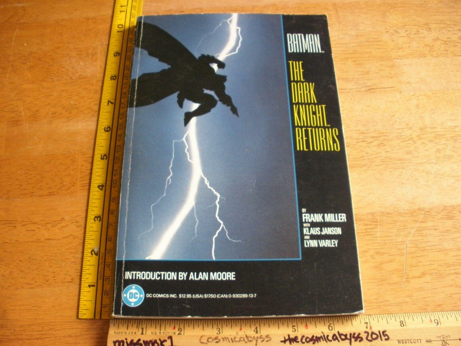 Batman The Dark Knight Returns TPB 1st print 1st VG+ Frank Miller