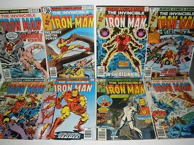 Marvel Comics Iron Man # 120 121 122 123 124 125 126 127 High Grade Run 7.5-8.5