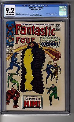 Fantastic Four # 67 - CGC 9.2 OW/White Pages - Origin & First App Him (Warlock)