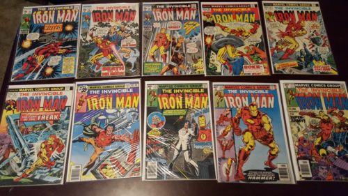 Iron Man Marvel Comics Lot #23 26 35 64 65 67 118 125 126 127 128 & More Keys