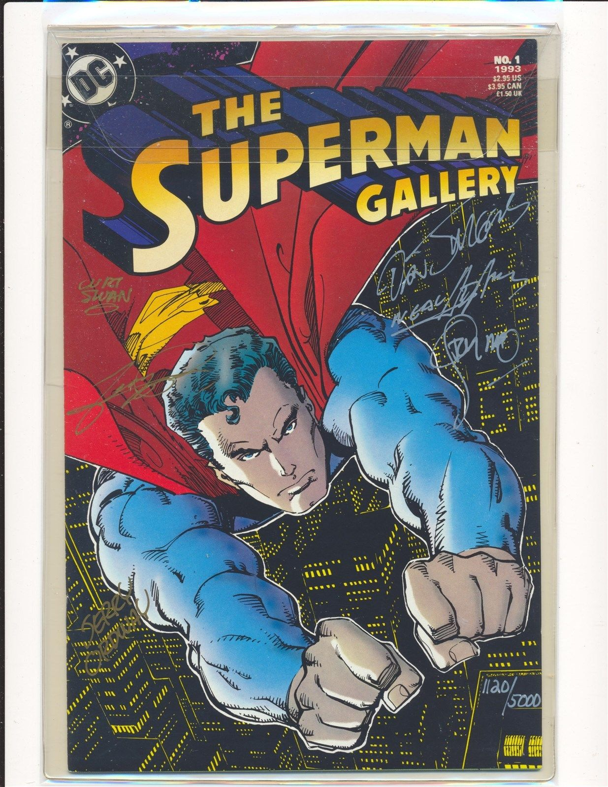Superman Gallery #1 (1993) Signed Neal Adams/George Perez/Jim Steranko/+more NM-