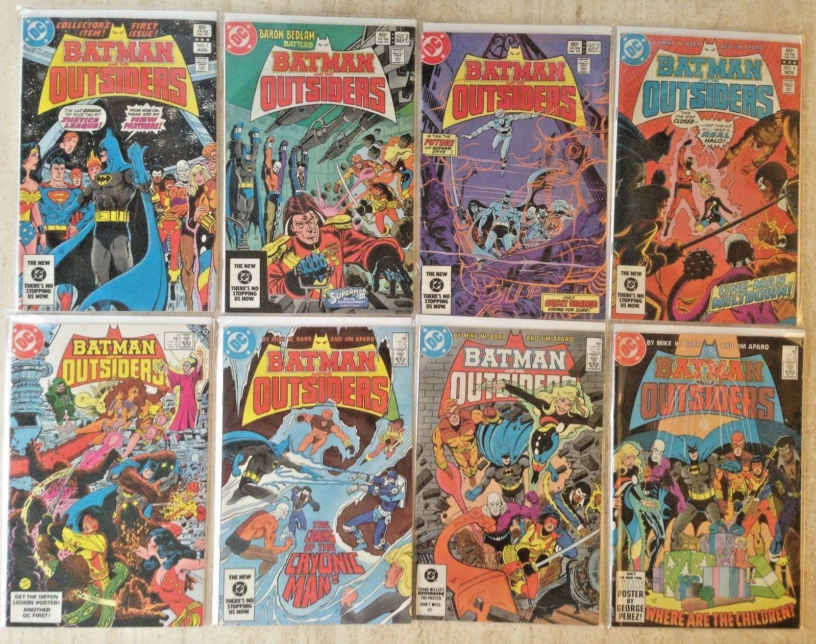 BATMAN AND THE OUTSIDERS 1-46,THE OUTSIDERS 1-28, OUTSIDERS 1-24 | 103 TOTAL