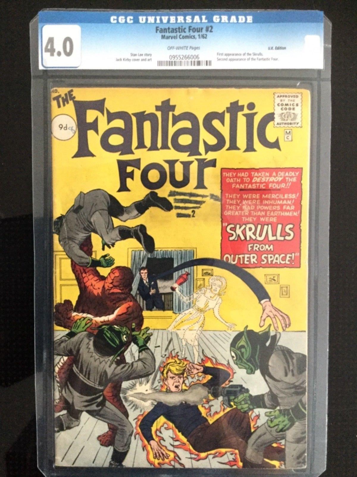 The Fantastic Four #2, 1/62, CGC 4.0, U.K.Edition