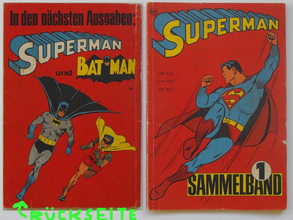 Superman Sammelband 1 (Hefte 1 - 4 von 1967). Mit Batman.