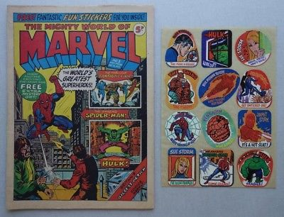 Mighty World of Marvel comic #3 - 21 Oct 1972 +FREE GIFT Stickers (phil-comics)