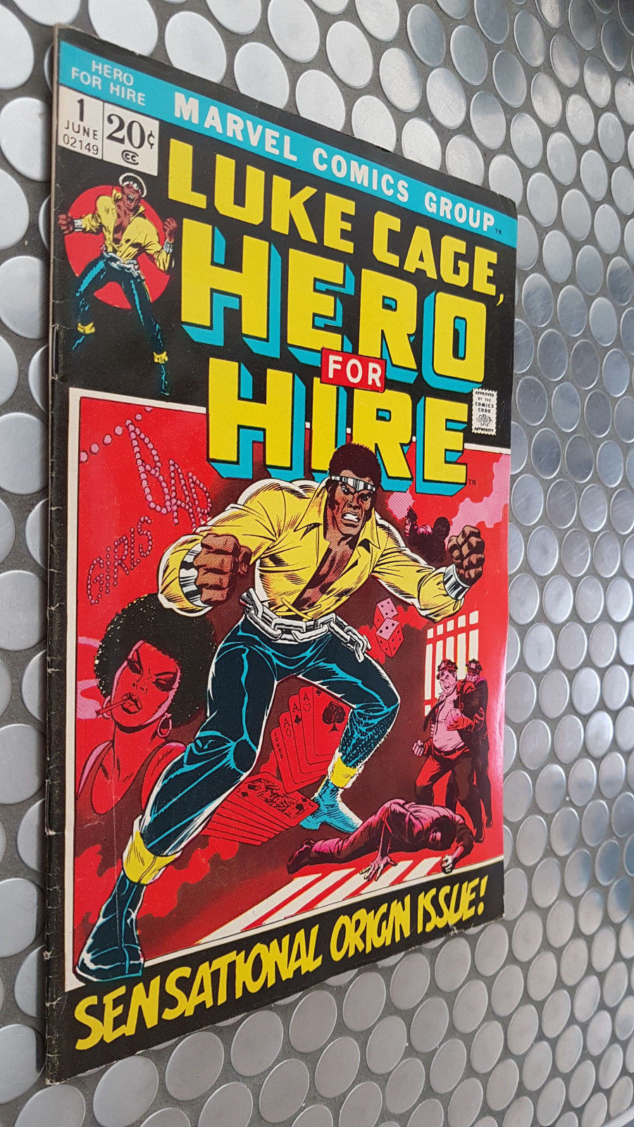 LUKE CAGE HERO FOR HIRE #1  ORIGIN ISSUE  MARVEL 1972 KEY
