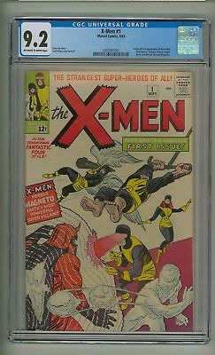 X-Men #1 (CGC 9.2) OW/W pgs; Origin/1st app. X-Men and Magneto; Kirby (c#21171)
