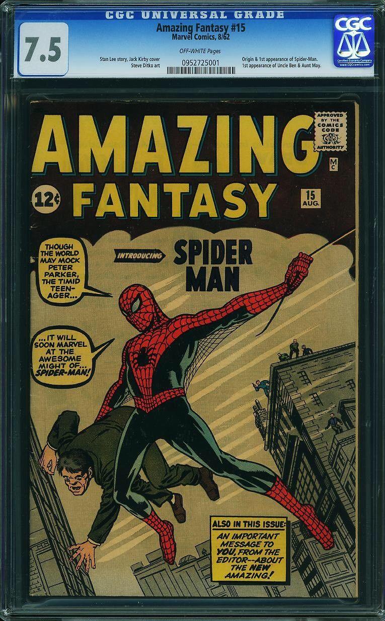 Amazing Fantasy # 15 / CGC 7.5 / 1st Spider-Man
