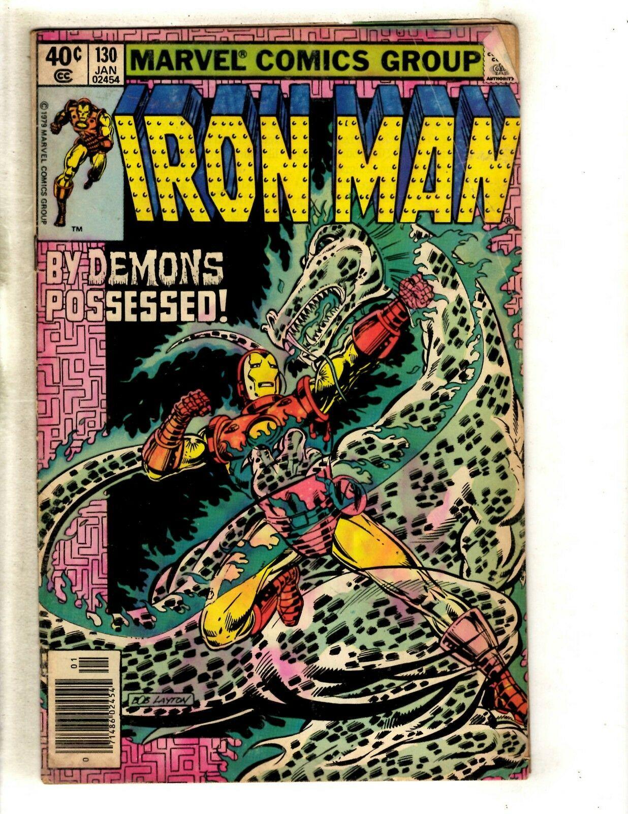 Lot Of 8 Iron Man Marvel Comic Books # 130 136 137 140 155 158 159 160 J333