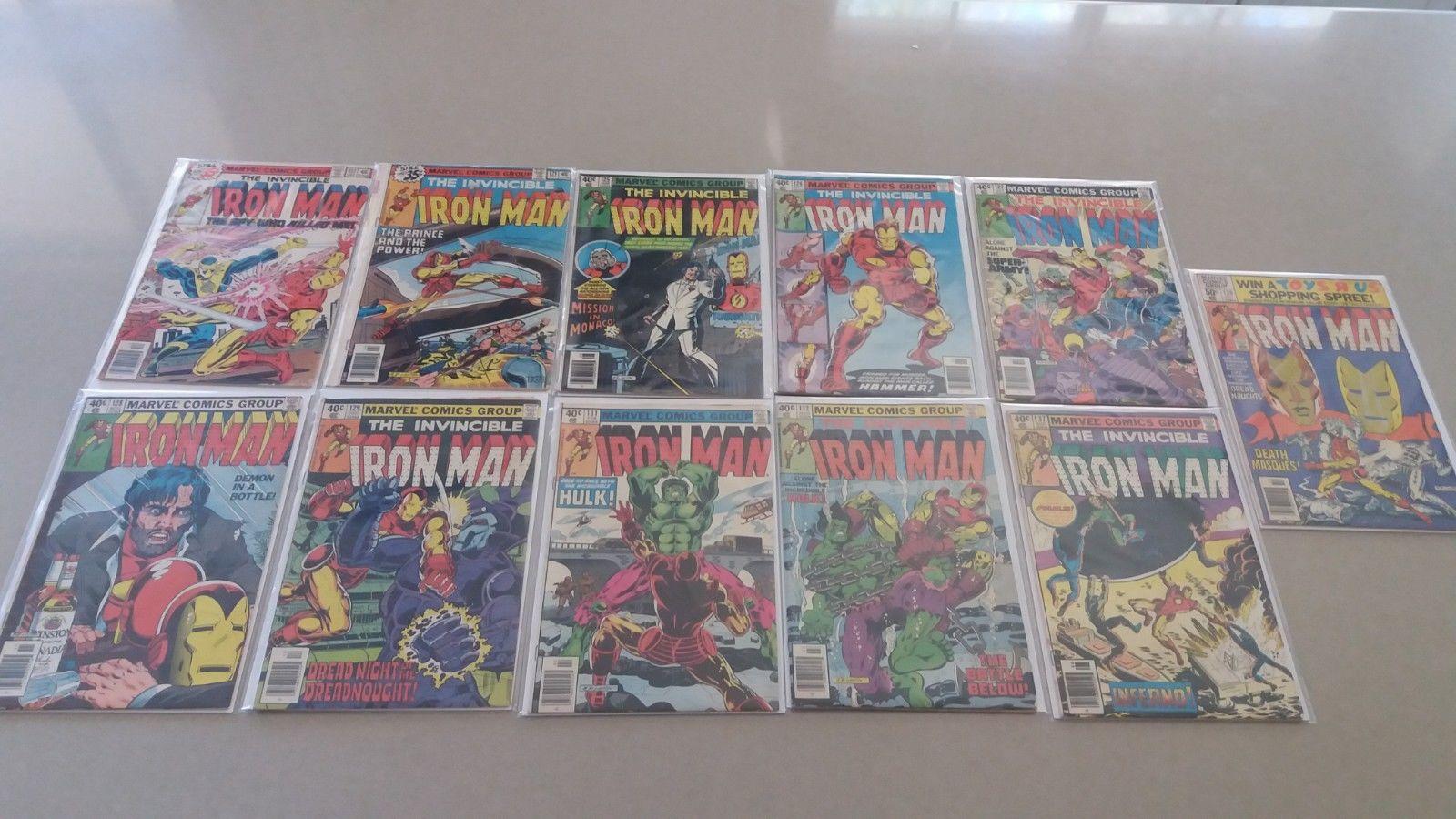IRON-MAN lot of 11 Comics #117,121,125,126,127,128,129,131,132,137,139