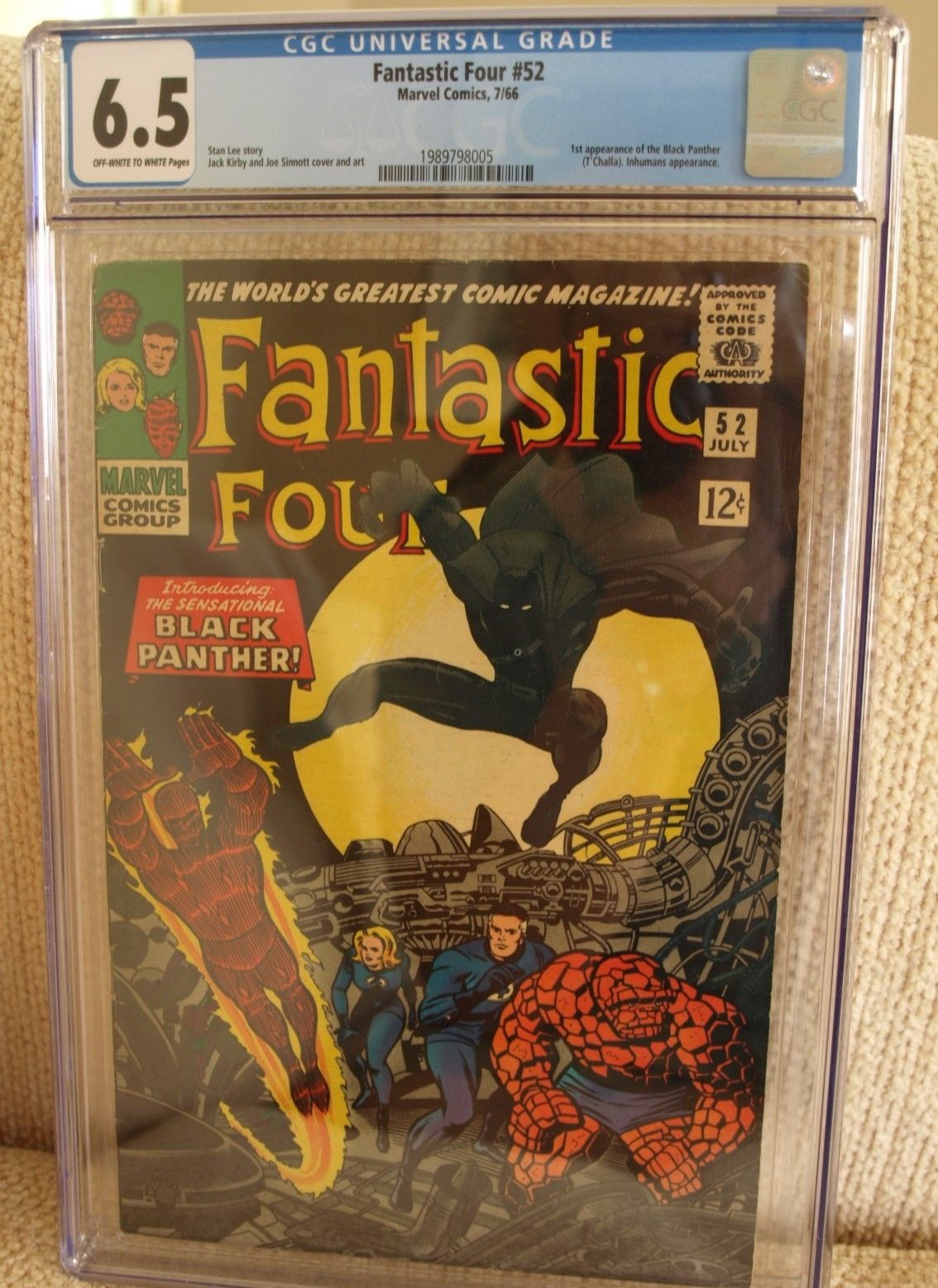 Fantastic Four #52 - CGC 6.5 FN+ - Marvel 1966 - FIRST Appearance Black Panther
