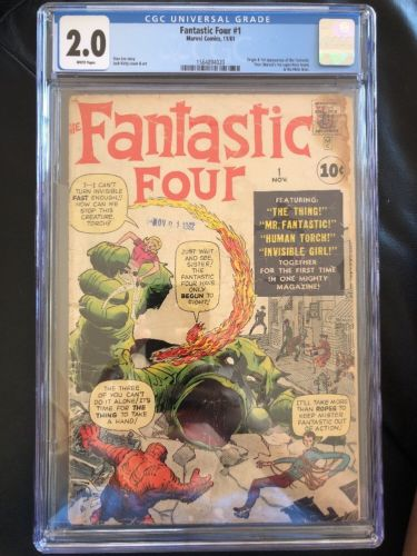 Fantastic Four #1 CGC 2.0 Origin and 1st Appearance of the Fantastic Four