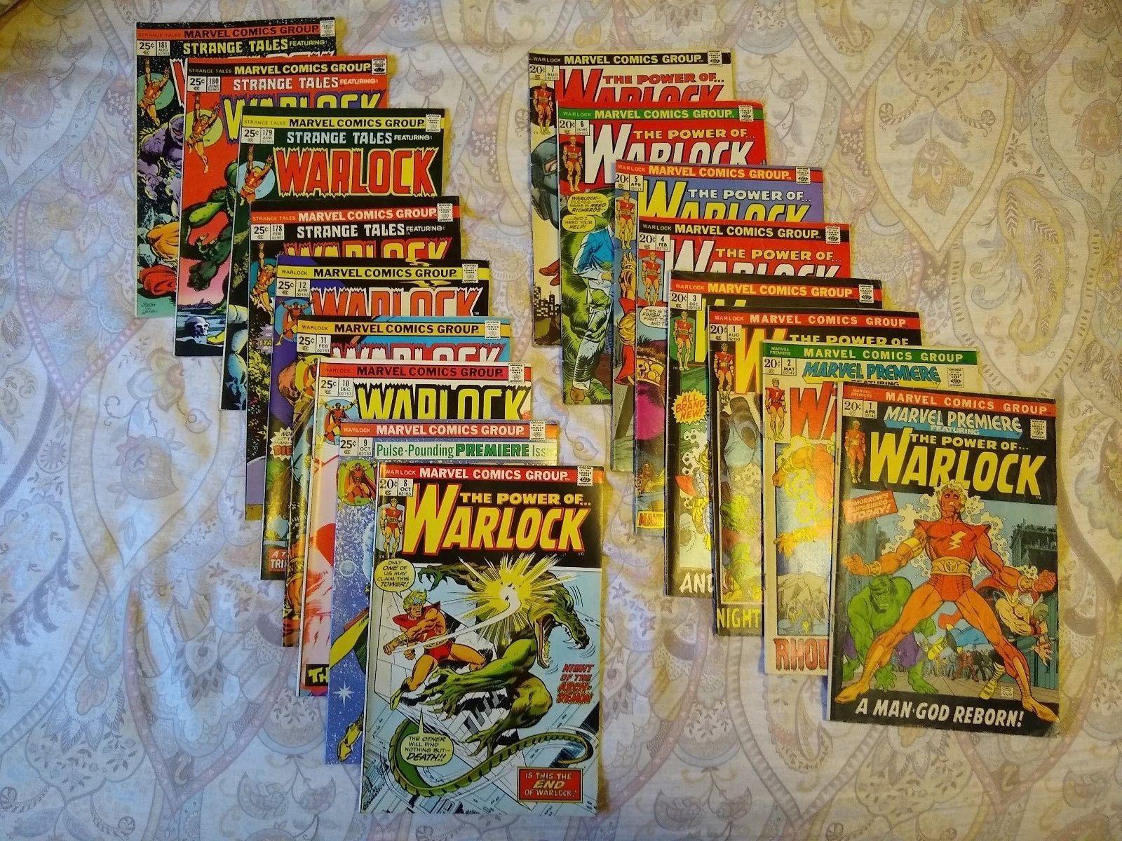 Warlock package: Warlock 1,3-12; Strange Tales 178-181; Marvel Premiere 1,2
