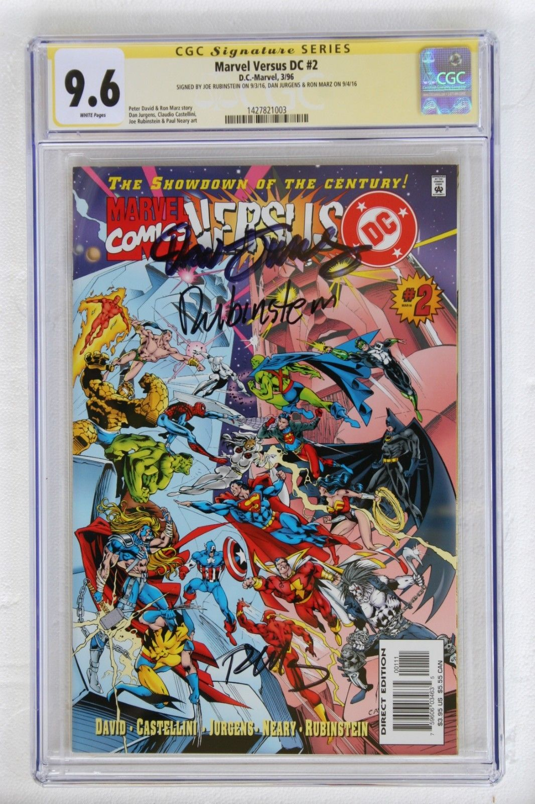 Marvel Versus DC 2 (SS CGC 9.6) NM+ x3 Rubinstein, Jurgens, Marz (1427821003) $8