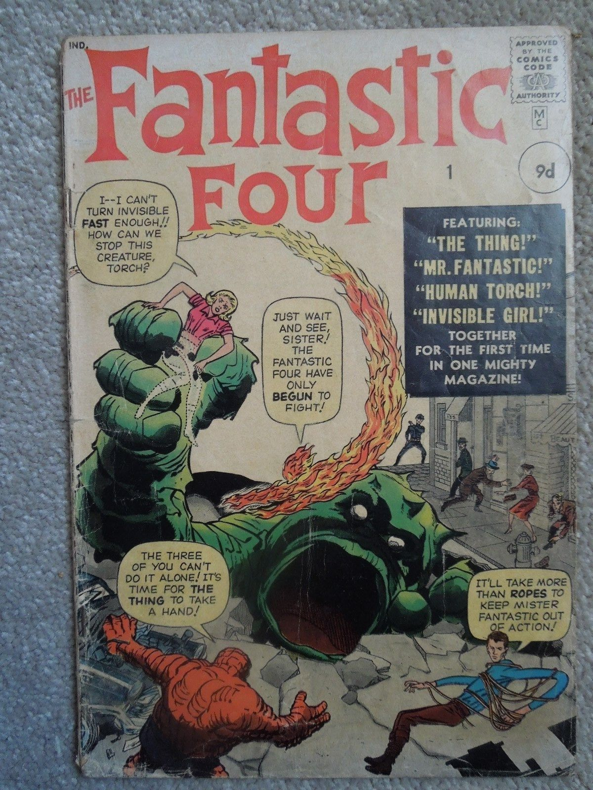 Fantastic Four #1 (Vol One 1961) - 1st appearance of the Fantastic Four