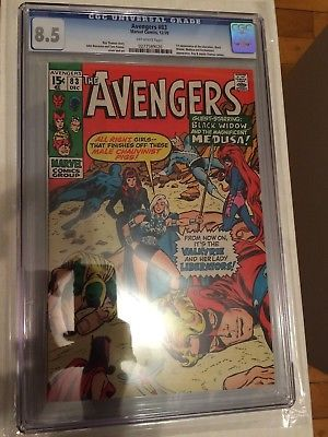 CGC 8.5 Avengers #83 *Off-White*1970*1st App. Valkyrie & the Liberators*