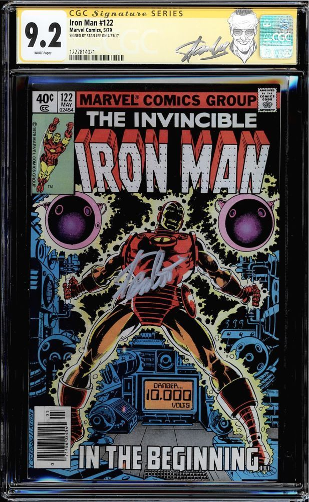 IRON MAN #122 CGC 9.2 SS STAN LEE WHITE PAGES NEW LABEL CGC #1227814021