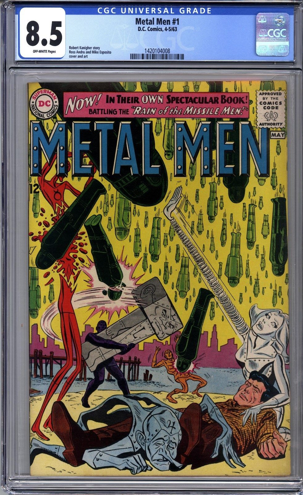 Metal Men #1 (Apr-May 1963, DC) CGC Graded 8.5 #1420104008