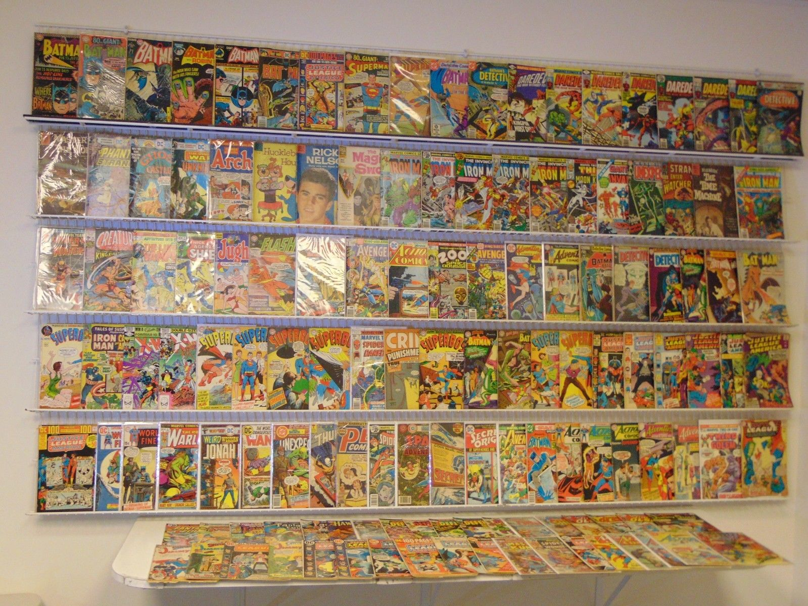 Lot of 120+ Silver/Bronze comics Batman, Daredevil, Iron Man, JLA & more