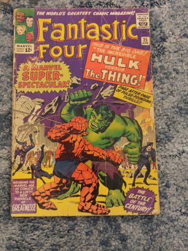 Fantastic Four #25 Fantastic Four #112 Fantastic Four #122 Hulk vs Thing