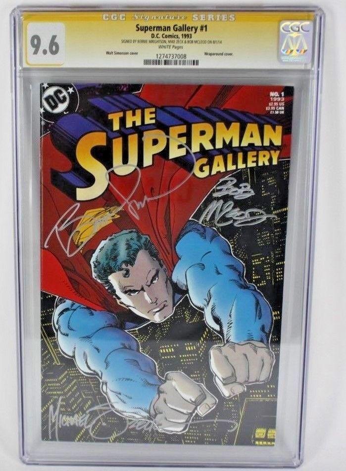 SUPERMAN GALLERY #1 COMIC CGC SIGNATURE SERIES 9.6 SIGNED WRIGHTSON ZECK MCLEOD