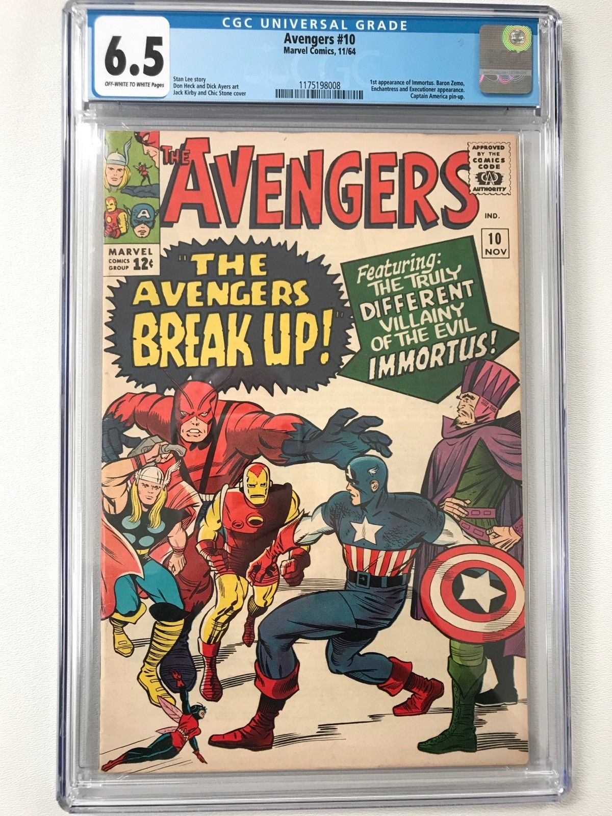 Avengers #10 CGC 6.5 Marvel  11/64 Immortus