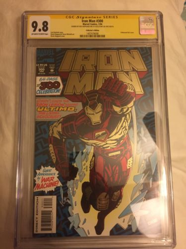 Iron Man #300  9.8 Cgc Signed By Stan Lee and Kev Hopgood