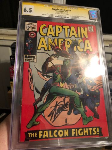 Captain America #118 (Oct 1969, Marvel) - CGC 6.5 - Signed By Stan Lee