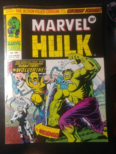 MIGHTY WORLD OF MARVEL #198???? UK RARE VERSION OF HULK #181 1976 1ST WOLVERINE