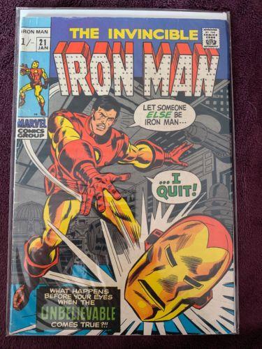 Marvel The Invincible Iron Man #21,22,23,24,25 Bronze Age
