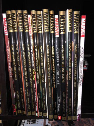 Avengers New Avengers Young Avengers HC Graphic Novel Lot 15 Books