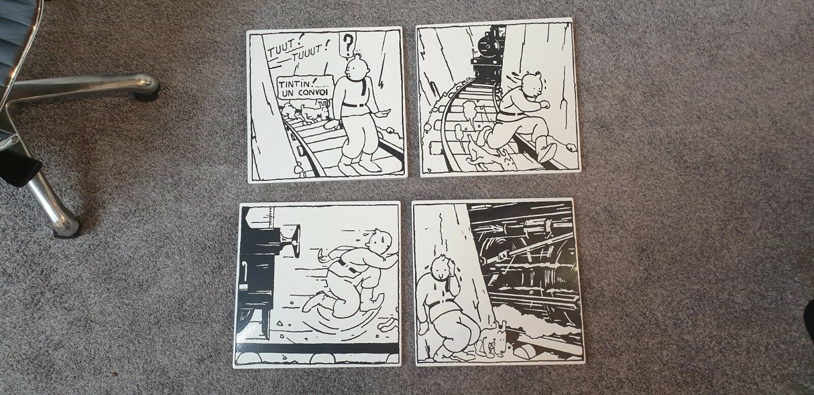 TINTIN HERGE * PLAQUES EMAILLEES AU PAYS DES SOVIETS * EMAILLERIE BELGE