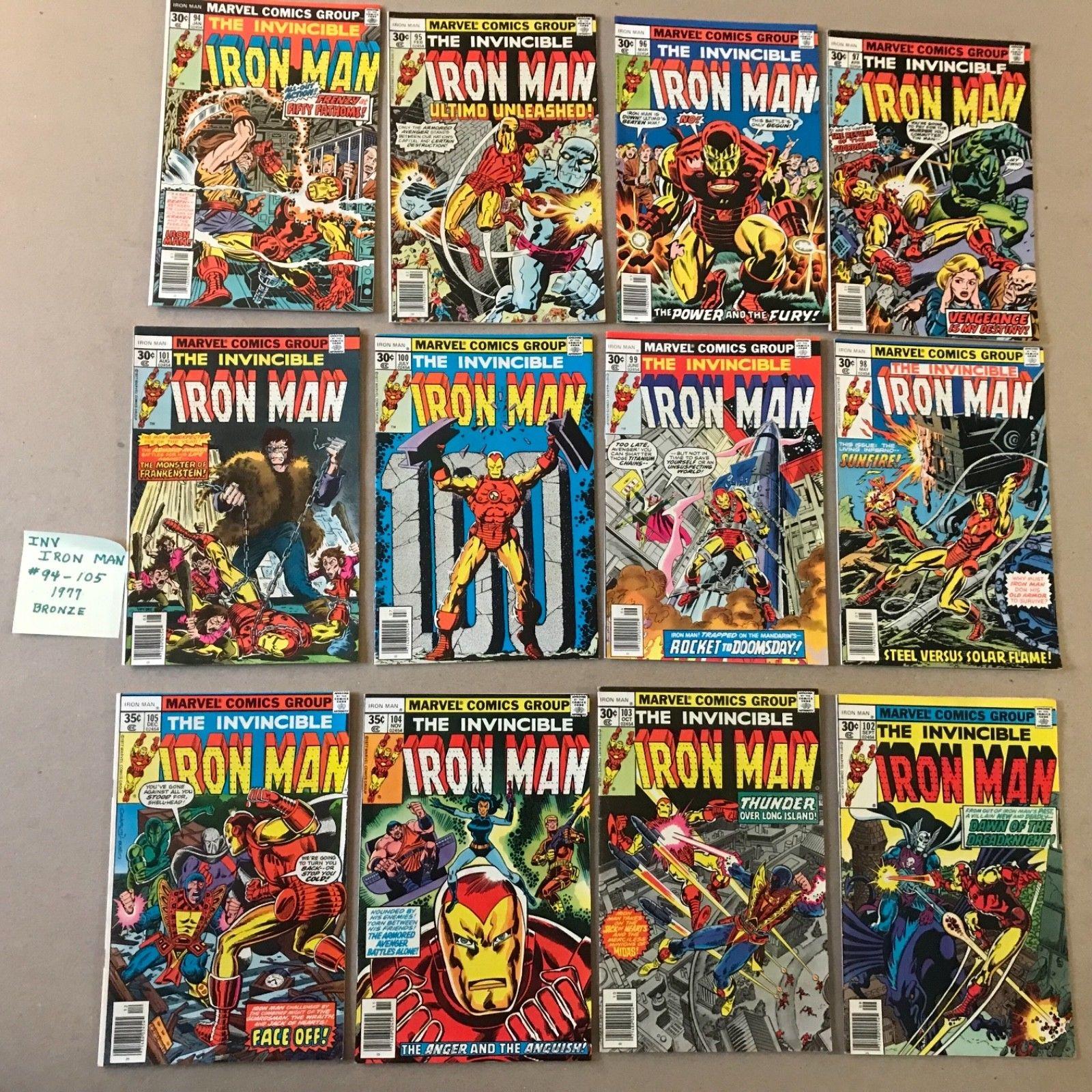 Marvel Invincible Iron Man 94 95 96 97 98 99 100 101 102 103 104 105 Bronze 1977