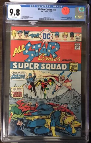 All Star Comics #58 CGC 9.8 1st Power Girl MAJOR KEY