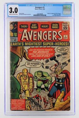 Avengers #1 - CGC 3.0 GD/VG -Marvel 1963- 1st App & ORIGIN (Iron Man Hulk Thor)