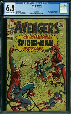 AVENGERS #11 CGC 6.5 Early Spider-Man app