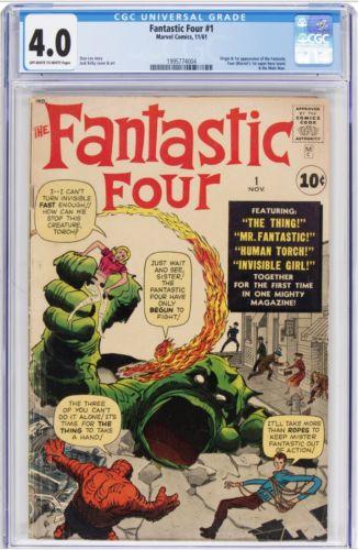 1961 Fantastic Four #1  CGC 4.0 Mole Man 1st App 1995774004 OW/White Pages
