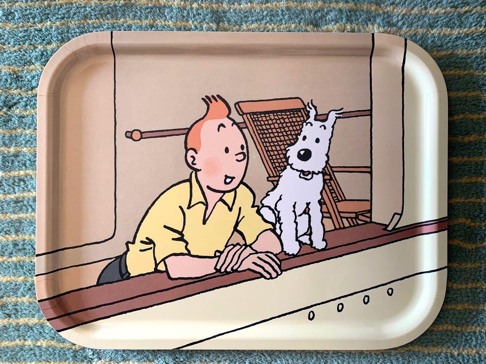 RARE ---- Plateau Axis --- Tintin et Milou - Les cigares du Pharaon