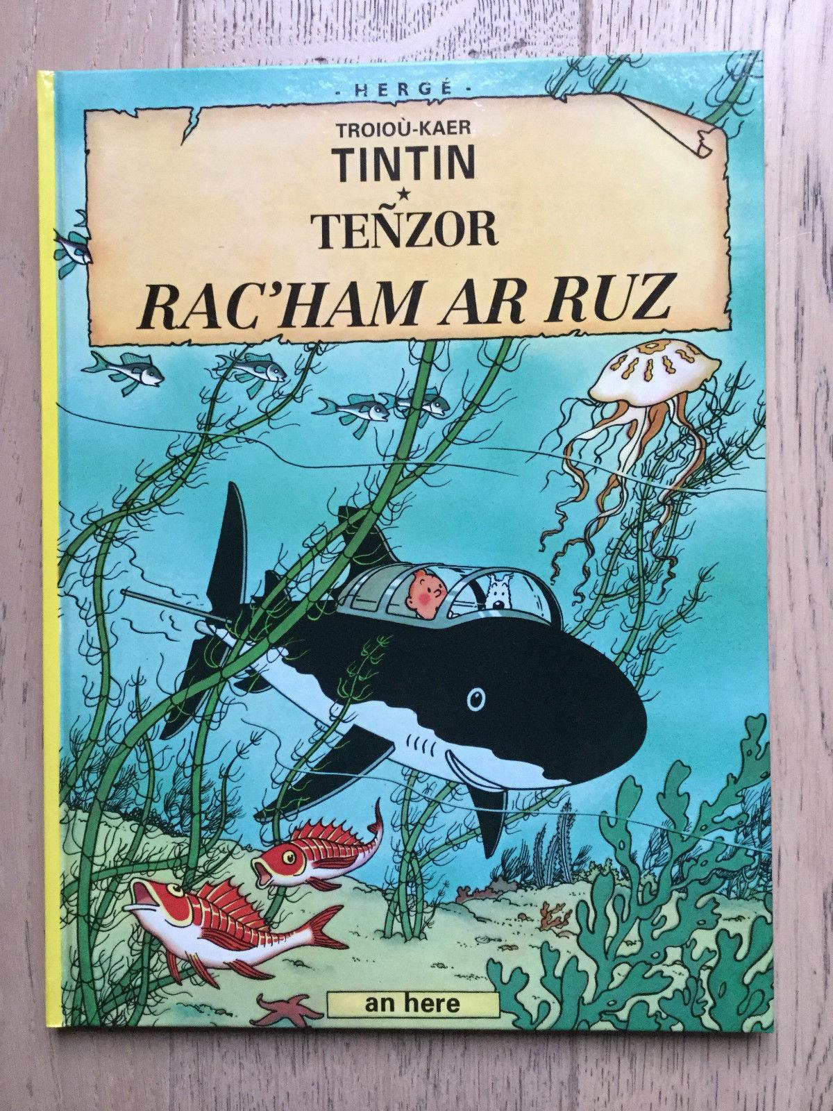 Tintin Hergé - Rackham le Rouge en Breton - Première Edition 1993 - Etat neuf