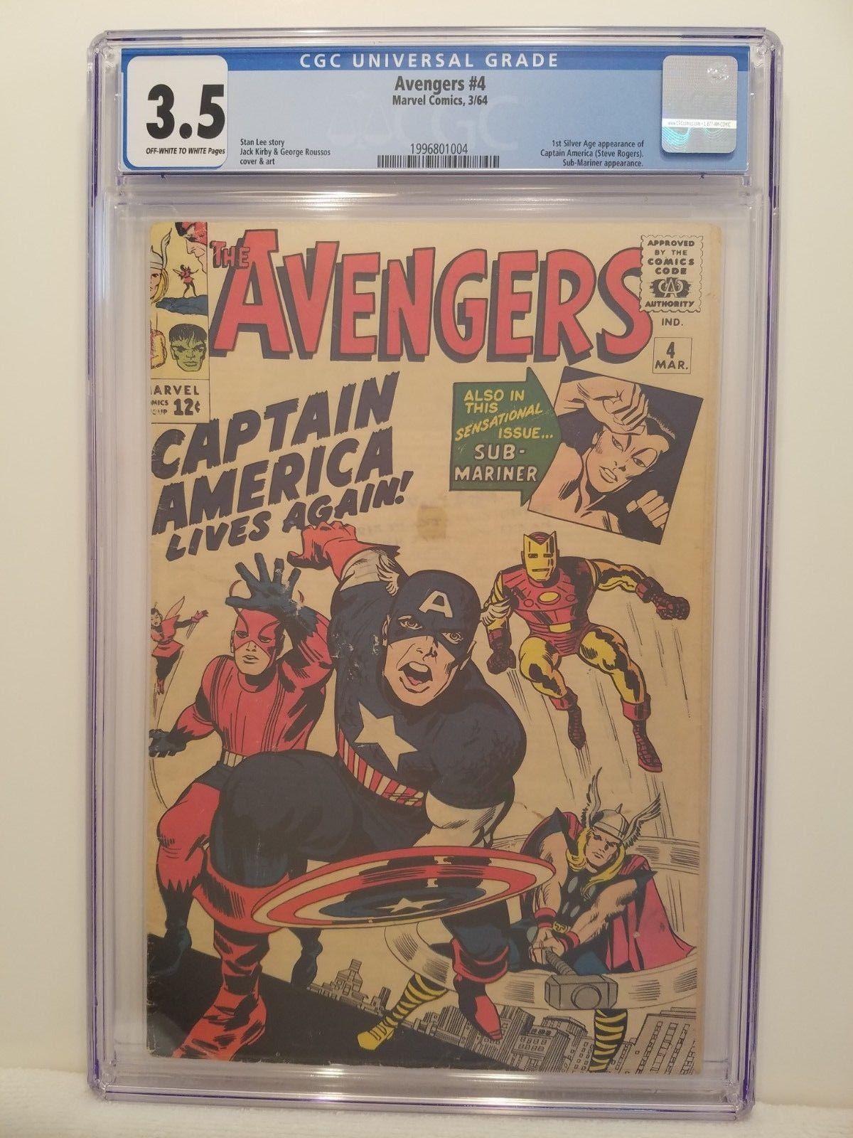 Avengers #4 CGC 3.5 Marvel 1964 1st Silver Age App Captain America