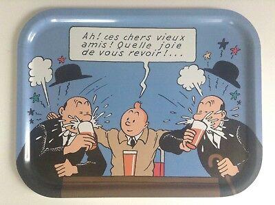 TRES RARE Superbe ancien grand  plateau Axis Tintin ETAT NEUF
