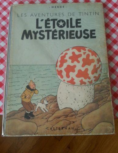 Tintin -  L'étoile mystérieuse 4è plat B1 - dos bleu - 1946 - papier normal BE