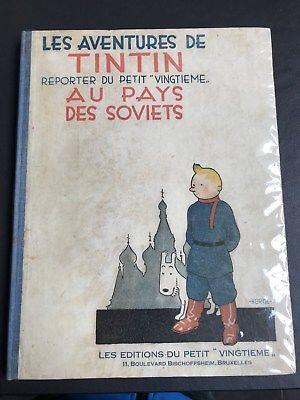 EXCEPTIONNEL HERGE - TINTIN AU PAYS DES SOVIETS EO 1930 (4ème mille)