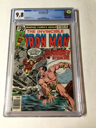 Invincible Iron Man 120 Cgc 9.8 White Pages