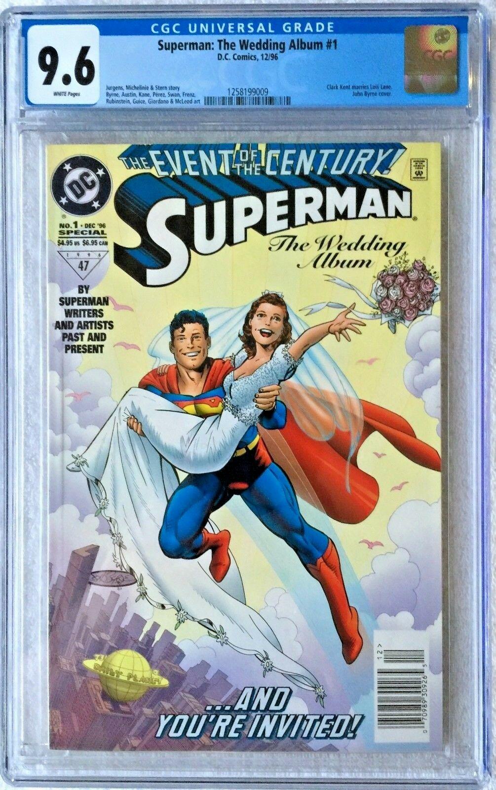 CGC 9.6 SUPERMAN: THE WEDDING ALBUM #1 .. SCARCE NEWSSTAND EDITION .. 1996 ..