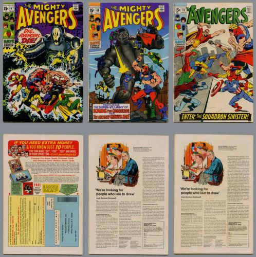 AVENGERS LOT 36 COMICS #67 THROUGH #120 THOR IRON MAN CAPTAIN AMERICA