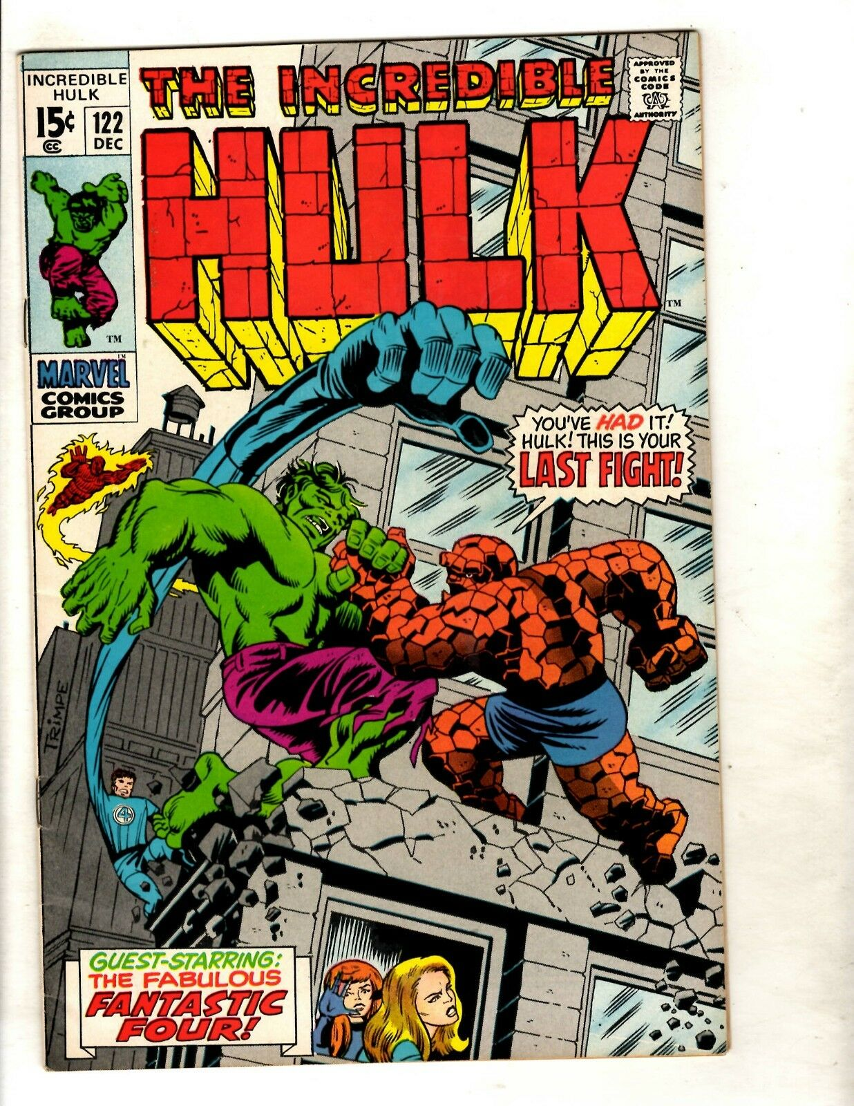 Incredible Hulk # 122 VF/NM Marvel Comic Book Avengers Thor Iron Man Trimpe FM5