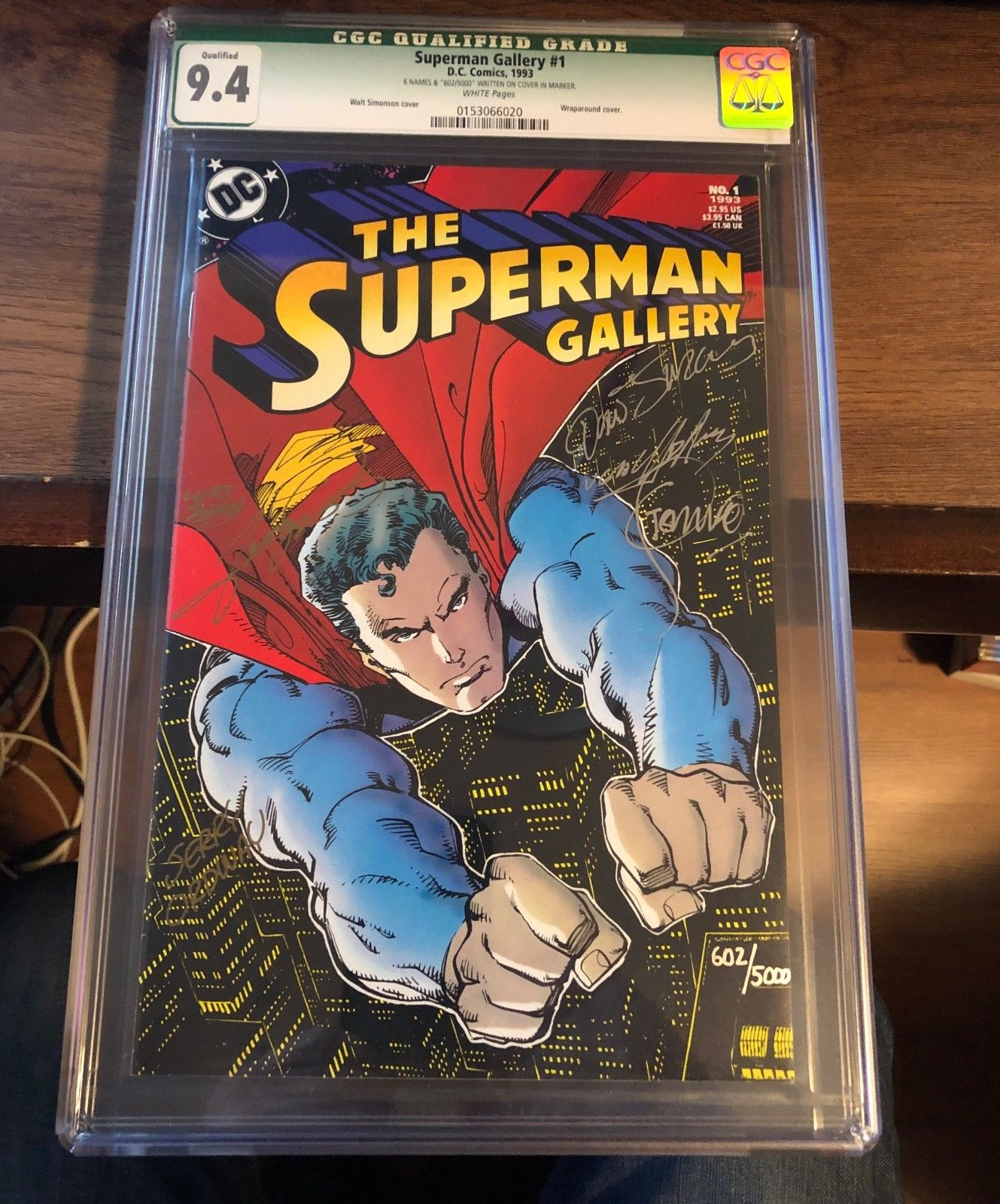 SUPERMAN GALLERY #1  CGC 9.4 Limited Edition # 602/5,000 Signed by 6