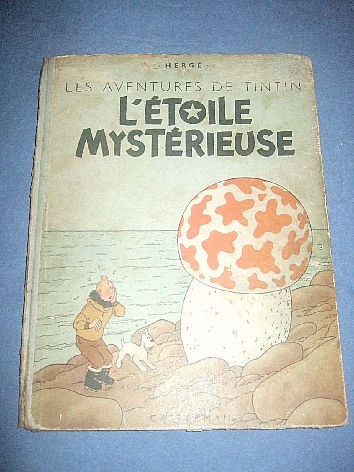 Tintin L'étoile mystérieuse B1 dos bleu de 1946 Papier épais